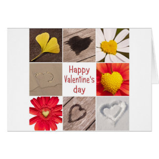 Heart collage Happy Valentine s day Tarjetón