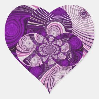 Heart_Sticker púrpura Pegatina En Forma De Corazón