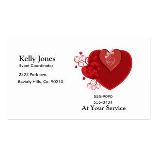 Heartstrings del amor tarjetas de visita