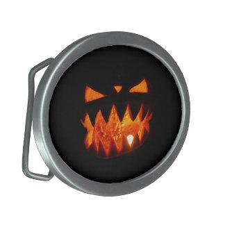 Hebilla De Cinturón Oval Calabaza de Halloween