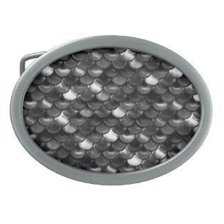 Hebilla De Cinturón Oval Escalas blancos y negros de Falln