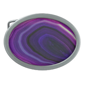 Hebilla De Cinturón Oval Falln remolinó Geode púrpura