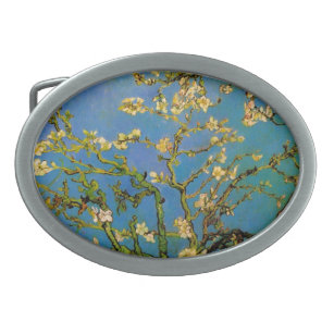 Hebilla De Cinturón Oval Floreciente árbol de almendros de Van Gogh, Bella