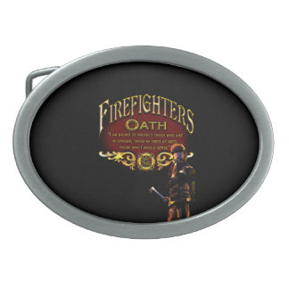 Hebilla De Cinturón Oval Juramento de los bomberos
