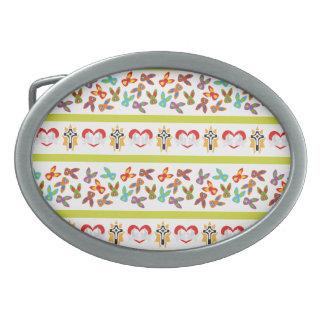 Hebilla De Cinturón Oval Modelo psico de Pascua colorido
