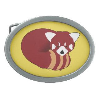 Hebilla De Cinturón Oval Panda roja