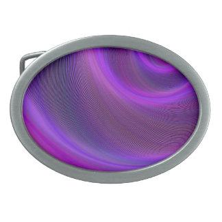 Hebilla De Cinturón Oval Tormenta púrpura de la noche