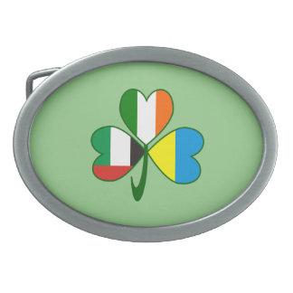 Hebilla De Cinturón Oval Trébol de los UAE Ucrania Irlanda