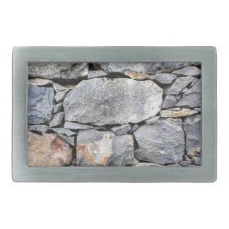 Hebilla De Cinturón Rectangular Backgound de piedras naturales como pared