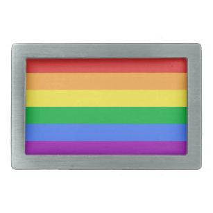 Hebilla De Cinturón Rectangular Bandera arco iris