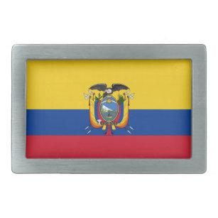 Hebilla De Cinturón Rectangular Bandera de Ecuador