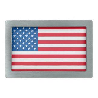 Hebilla De Cinturón Rectangular Barras y estrellas de la bandera de los E.E.U.U.