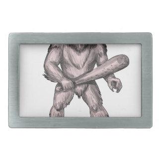Hebilla De Cinturón Rectangular Bigfoot que celebra el tatuaje derecho del club