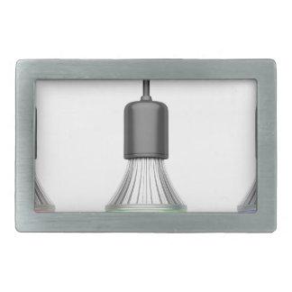 Hebilla De Cinturón Rectangular Bulbos del LED con diversos colores