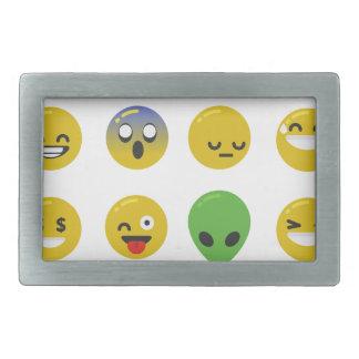 Hebilla De Cinturón Rectangular Cara feliz de Emoji
