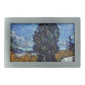 Hebilla De Cinturón Rectangular Carretera nacional de Vincent van Gogh en Provence