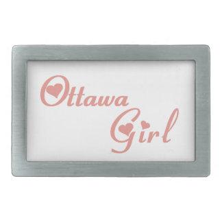 Hebilla De Cinturón Rectangular Chica de Ottawa