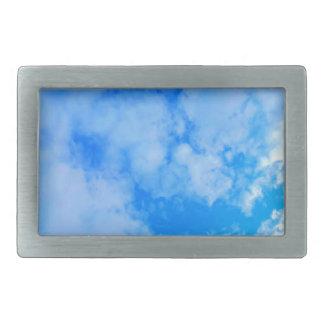 Hebilla De Cinturón Rectangular cielo azul
