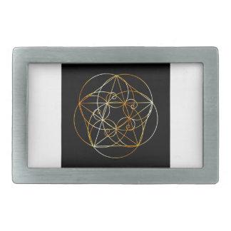 Hebilla De Cinturón Rectangular Espiral de Fibonacci la geometría sagrada