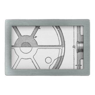 Hebilla De Cinturón Rectangular Impresión mecánica industrial de las Ephemeras de