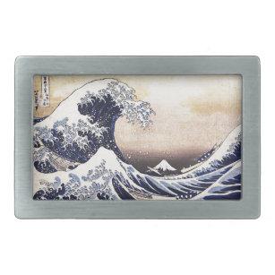 Hebilla De Cinturón Rectangular La gran onda del arte del japonés de Kanagawa