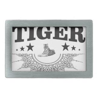 Hebilla De Cinturón Rectangular logotipo de lujo del tigre