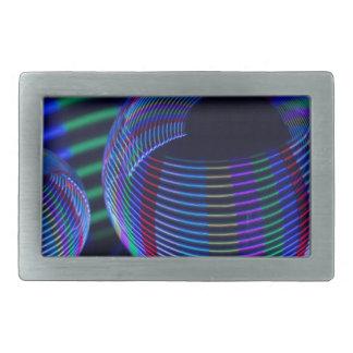 Hebilla De Cinturón Rectangular Luces espirales en el cristal
