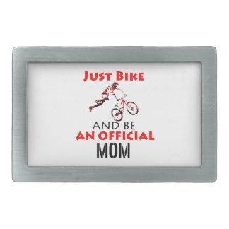 Hebilla De Cinturón Rectangular Mamá de ciclo divertida