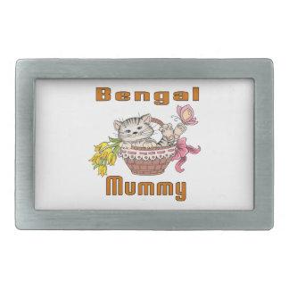 Hebilla De Cinturón Rectangular Mamá del gato de Bengala