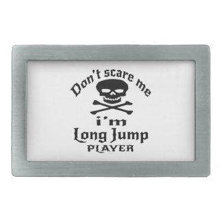 Hebilla De Cinturón Rectangular No me asuste que soy jugador del salto de longitud