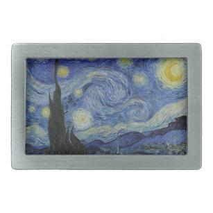 Hebilla De Cinturón Rectangular Pintura de Starry Night Vincent van Gogh