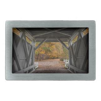 Hebilla De Cinturón Rectangular Puente cubierto del camino de Everatt