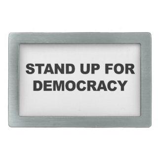 Hebilla De Cinturón Rectangular Represente para arriba democracia