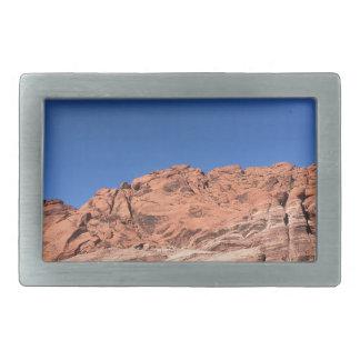 Hebilla De Cinturón Rectangular Rocas rojas y cielos azules