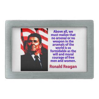 Hebilla De Cinturón Rectangular Sobre todo debemos realizar - a Ronald Reagan