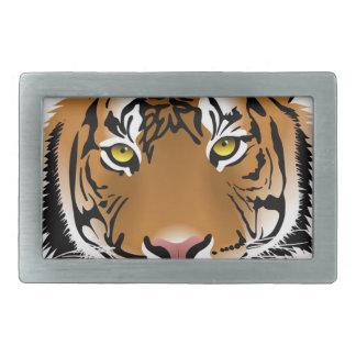 Hebilla De Cinturón Rectangular Tigre de Bengala