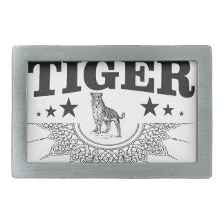 Hebilla De Cinturón Rectangular tigre feliz