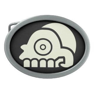 Hebilla del cinturón azteca del cráneo