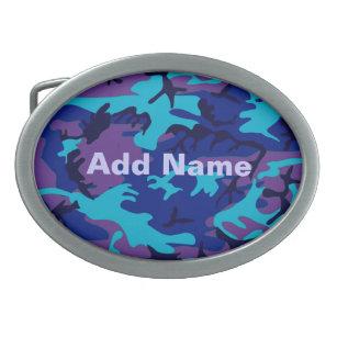 Hebilla del cinturón azul marino y púrpura del