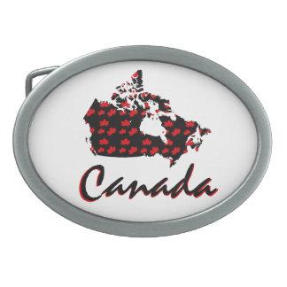 Hebilla del cinturón canadiense de Canadá del arce