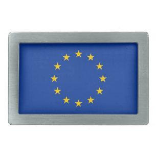 Hebilla del cinturón con la bandera de la unión