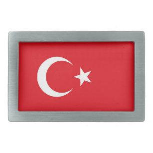 Hebilla del cinturón con la bandera de Turquía