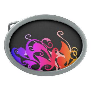 Hebilla del cinturón del remolino del arco iris
