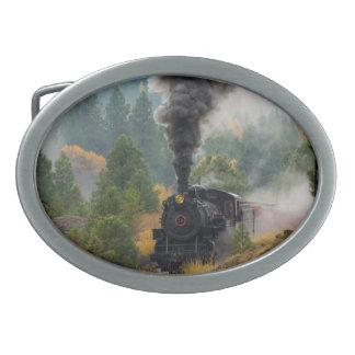 Hebilla del cinturón negra del motor de vapor
