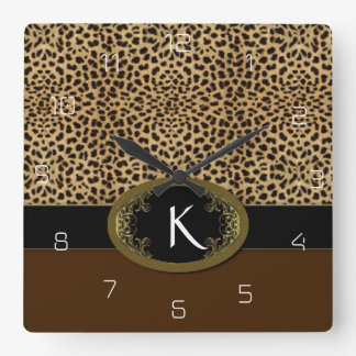 Hebilla encima del leopardo reloj cuadrado