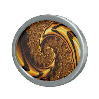 Hebilla Ovalada Espiral estupendo del chocolate con leche del