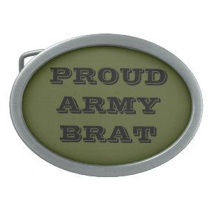Hebilla Ovalada Hermano del ejército orgulloso