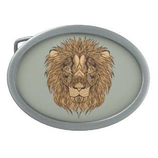 Hebilla Ovalada La cabeza del león