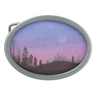 Hebilla Ovalada Luna y estrellas de Lansing