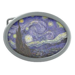Hebilla Ovalada Noche estrellada de Vincent van Gogh